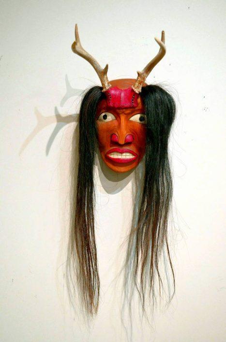 Kris Nahrgang - 7x3x16.5 - Mask, Deer Clan